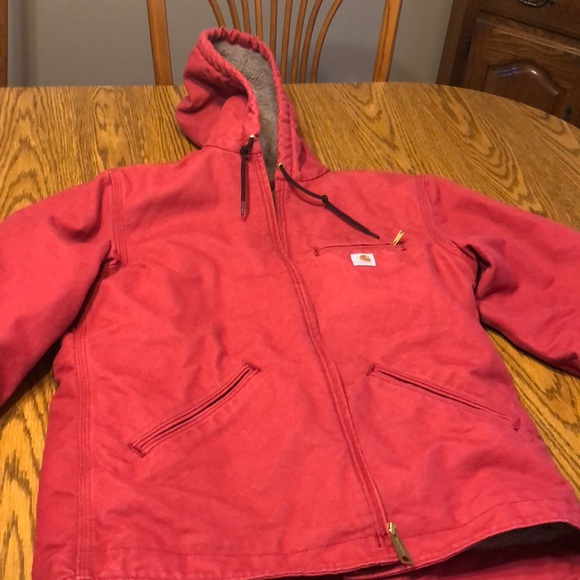 7c52ac57ffc Carhartt Jackets   Blazers - Raspberry Carhartt Sherpa lined coat